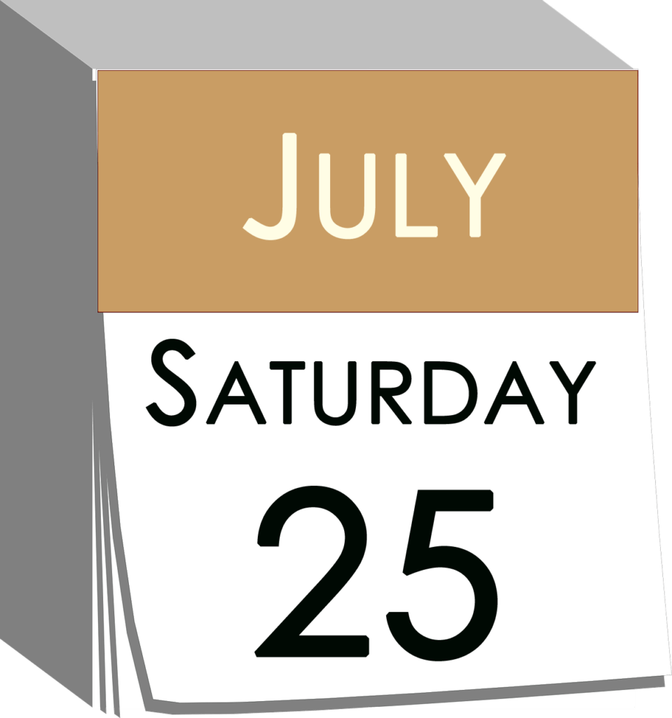 2020-07-25 - Saturday - Calendar Michelangelo Nari