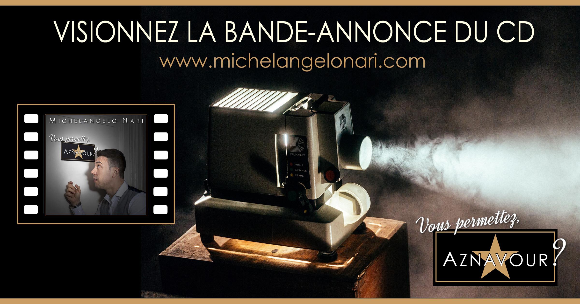 """Michelangelo Nari - """"Vous permettez, Aznavour?"""" - Visionnez la bande-annonce du CD"""