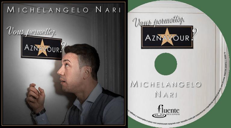 """Michelangelo Nari - Copertina/Pochette/Cover - CD """"Vous permettez, Aznavour?"""""""