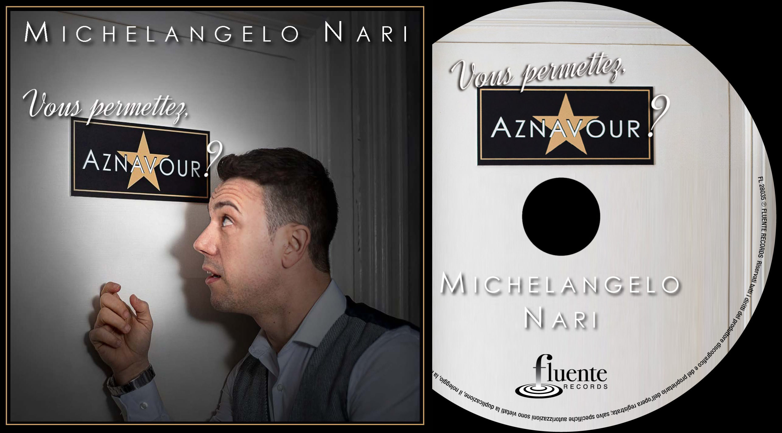 "Michelangelo Nari - ""Vous permettez, Aznavour?"" - Cover and CD"