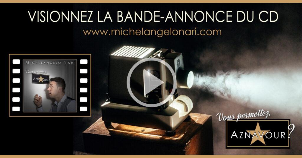 """Visionnez la bande-annonce du CD - Michelangelo Nari - """"Vous permettez, Aznavour?"""""""