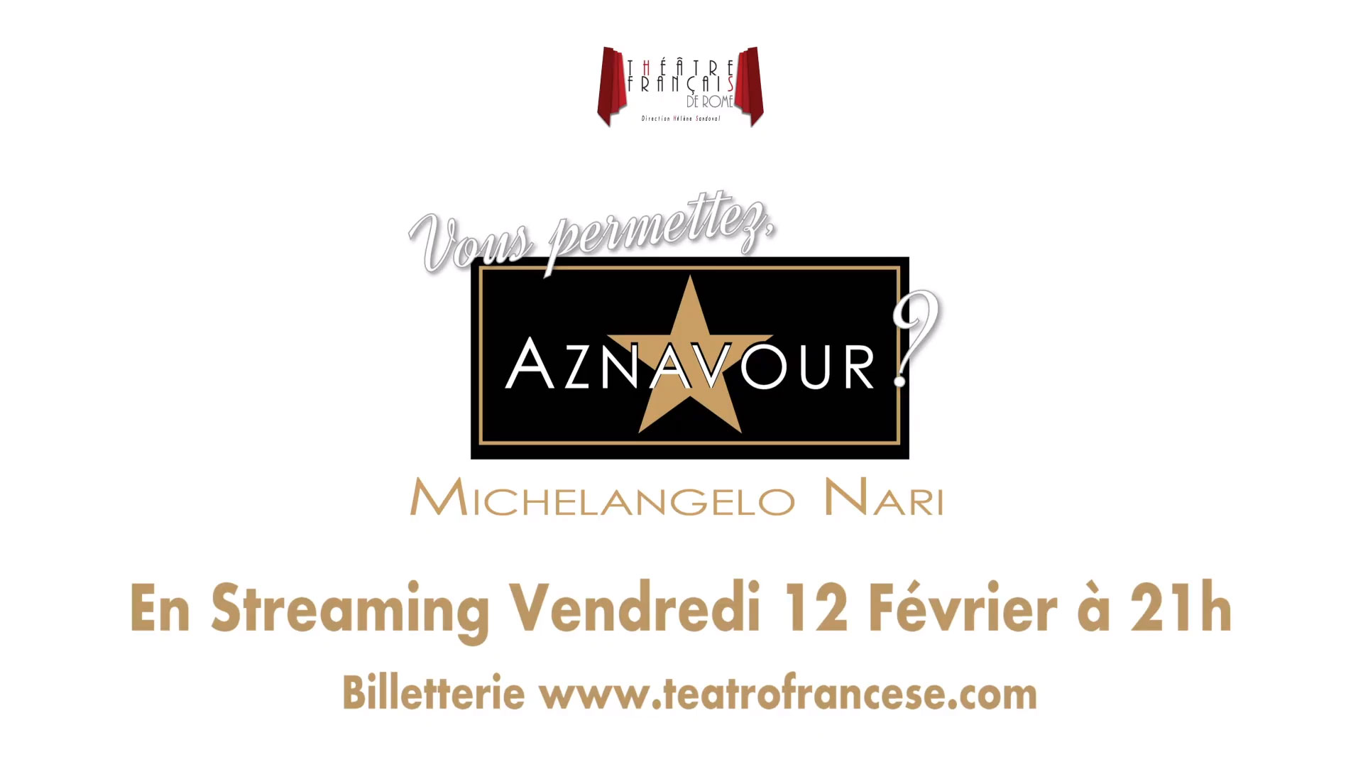 """Vous permettez, Aznavour?"" - streaming - Michelangelo Nari - immagine video"